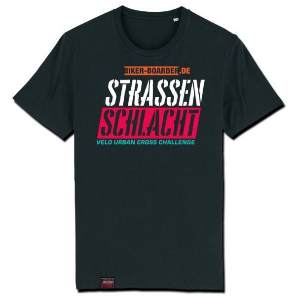 BIKER-BOARDER Strassenschlacht Shirt Logo
