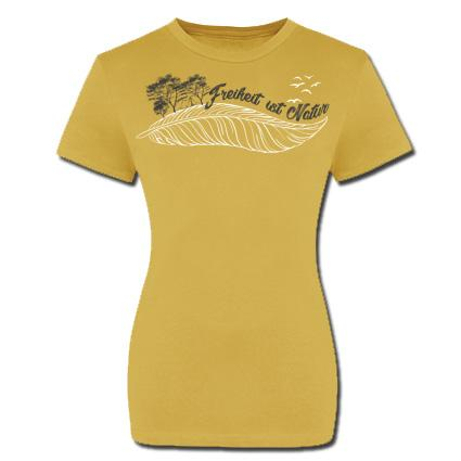 Freiheit ist Natur Girlie Shirt